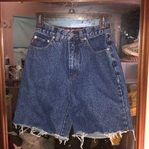 distressed denim mom shorts. not brandy